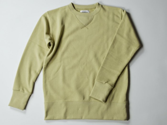 sweat crew neck / SAND BEIGE