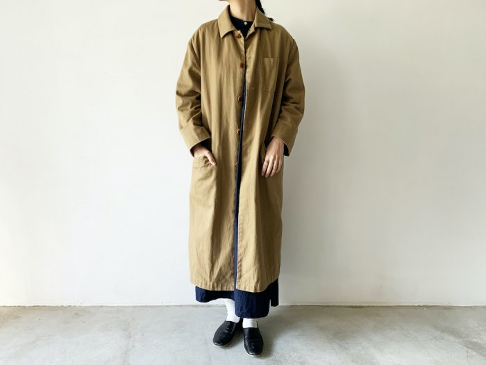 <img class='new_mark_img1' src='https://img.shop-pro.jp/img/new/icons56.gif' style='border:none;display:inline;margin:0px;padding:0px;width:auto;' />drill overcoat / KHAKI