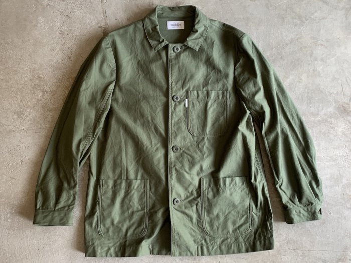 <img class='new_mark_img1' src='//img.shop-pro.jp/img/new/icons8.gif' style='border:none;display:inline;margin:0px;padding:0px;width:auto;' />military coverall / OLIVE