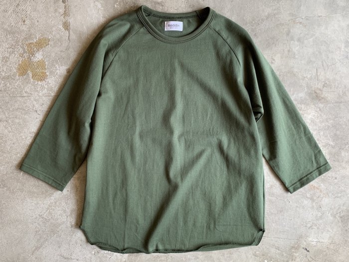 baseball t-shirt /  DARK GREEN