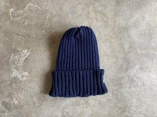 cotton rib knit cap / NAVY