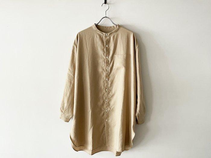 linen grandpa shirt /  BEIGE