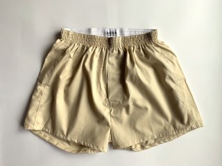 cotton boxer shorts / BEIGE