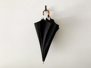 前原光榮商店 short shantung umbrella / BLACK