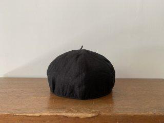 kid's linen beret /BLACK