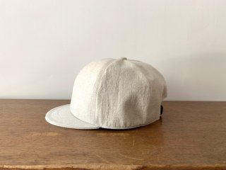 kid's cotton linen bb cap /NATURAL