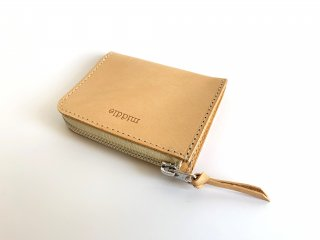 zip mini wallet  / TAN