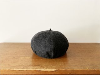 kid's wool beret /GREY