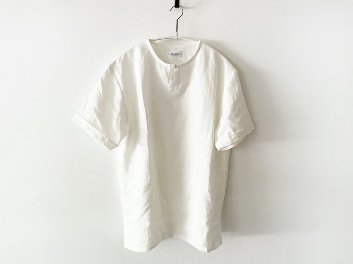 <img class='new_mark_img1' src='https://img.shop-pro.jp/img/new/icons8.gif' style='border:none;display:inline;margin:0px;padding:0px;width:auto;' />linen short sleeve kurta/  OFF WHITE