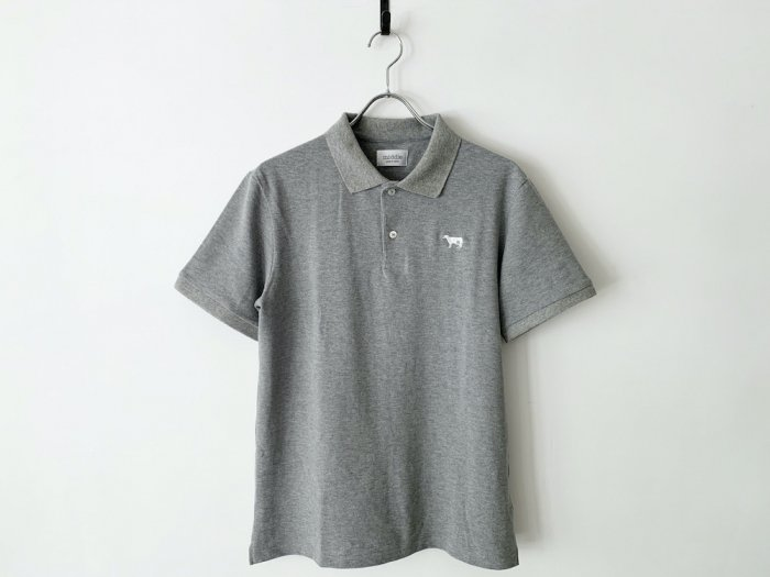 <img class='new_mark_img1' src='https://img.shop-pro.jp/img/new/icons8.gif' style='border:none;display:inline;margin:0px;padding:0px;width:auto;' />cotton pique polo shirt / GREY