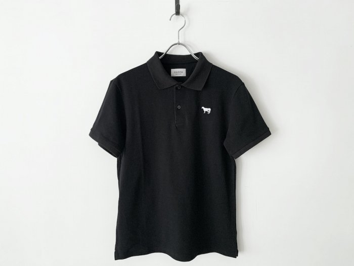 <img class='new_mark_img1' src='https://img.shop-pro.jp/img/new/icons8.gif' style='border:none;display:inline;margin:0px;padding:0px;width:auto;' />cotton pique polo shirt / BLACK