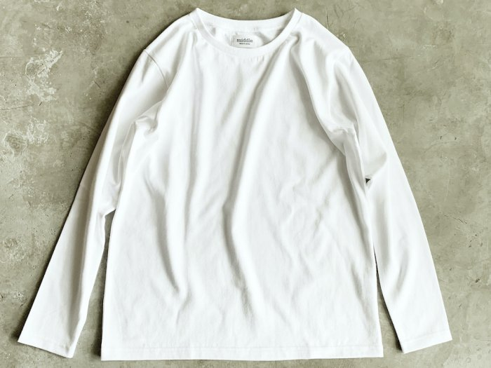 standard long sleeve t-shirt / WHITE