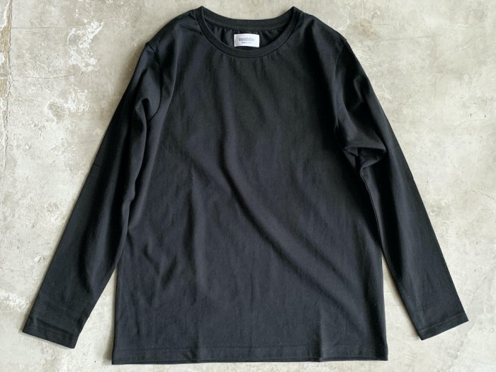 standard long sleeve t-shirt / BLACK