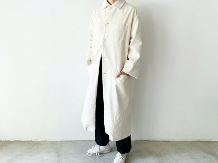 <img class='new_mark_img1' src='https://img.shop-pro.jp/img/new/icons8.gif' style='border:none;display:inline;margin:0px;padding:0px;width:auto;' />drill overcoat / NATURAL