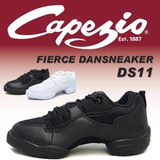 ダンススニーカーDS11【カペジオCAPEZIO FIERCE DANSNEAKER】【ジャズダンスシューズ/ジャズシューズ】【スプリットソール】【チア、ヒップホップ】【アタリマ】DS-CZDS11