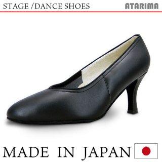 ステージシューズ ダンスシューズ 女性モダンシューズ【黒】【日本製】【本革】【7cmヒール】【キャラクターシューズ、社交ダンス、舞台、ピアノ、演奏、合唱】<img class='new_mark_img2' src='https://img.shop-pro.jp/img/new/icons61.gif' style='border:none;display:inline;margin:0px;padding:0px;width:auto;' />