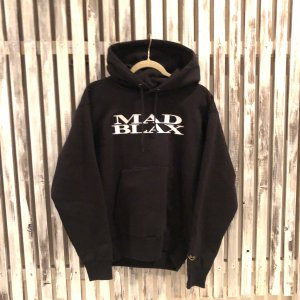 MAD BLAX Embroidery hoodie(Black)