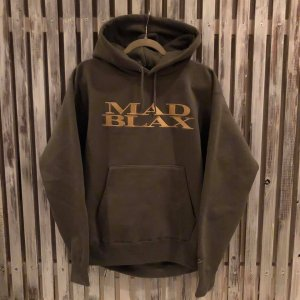 MAD BLAX Embroideryhoodie(Dark green)