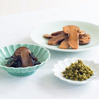 美味 三色(松茸昆布・実山椒・松茸佃煮)