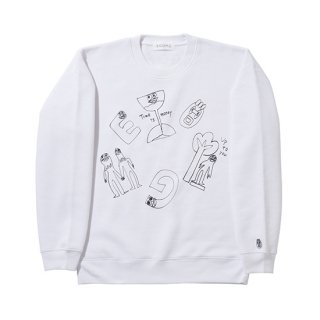 格言 ALL STARS CREW NECK SWEAT【WHITE】