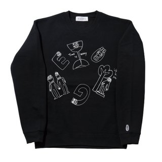 格言 ALL STARS CREW NECK SWEAT【BLACK】
