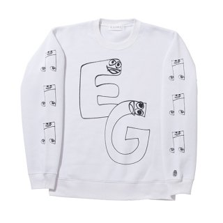 EG & MUSIC CREW NECK SWEAT【WHITE】