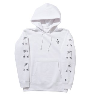 EG & 音符 PULL OVER PARKA【WHITE】