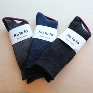 RoToTo<BR> LINEN COTTON RIB SOCKS 23-25cm