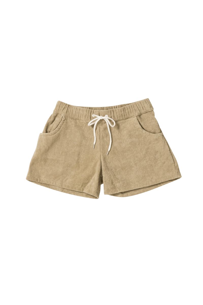 <img class='new_mark_img1' src='https://img.shop-pro.jp/img/new/icons56.gif' style='border:none;display:inline;margin:0px;padding:0px;width:auto;' /><FIDES × THING FABRICS>SHORT PILE SHORTS WOMEN
