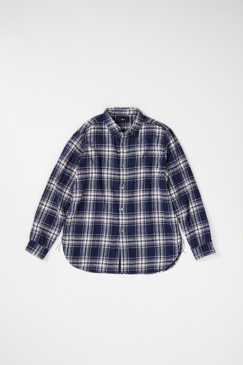 DOUBLE LAYERED LINEN CHECK SHIRT