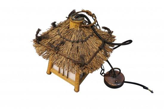 レトロ 和風吊り灯篭 竹製【画像3】