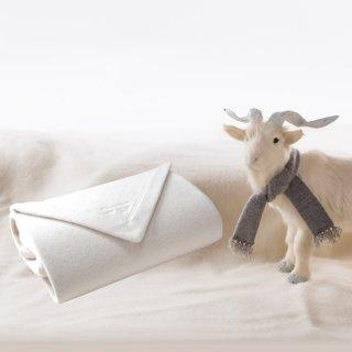 ホワイトカシミヤ毛布