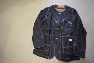GO WEST NO COLLAR WORK JACKET/8oz WORK DENIM