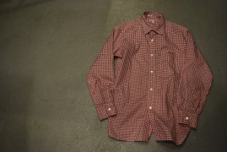 standard california SD Thomas Mason Fabric Traditional Shirt(RED)