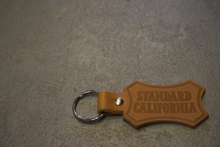 standard california Button Works × SD Shield Logo Leather Key Holder