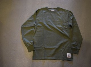standard california SD Heavyweight Pocket Long Sleeve T(OLIVE)