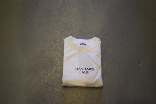 standard california / SD Heavyweight Long Sleeve T with Logo(WHITE)