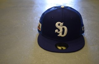 standard california / NEW ERA × SD 59 FIFTY Logo Mesh Cap(BLUE)
