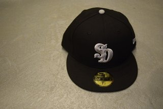 standard california / NEW ERA × SD 59 FIFTY Logo  Cap(BLACK)