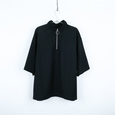 """HOPE"" zip short sleeve BLACK"
