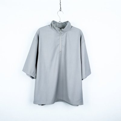 """HOPE"" zip short sleeve GRAY"