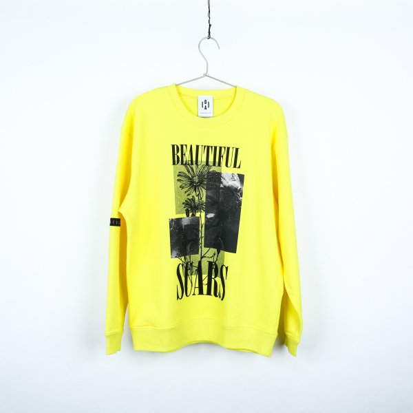 """BEAUTIFUL SCARS"" light sweat YELLOW"