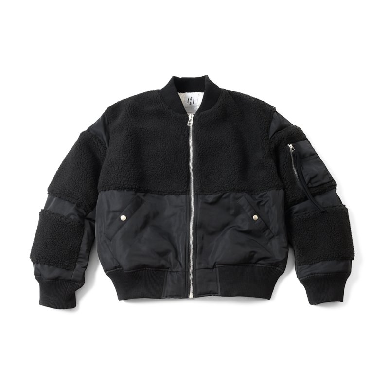 """THE BLACK SHEEP"" MA-1 Jacket Black x Black"
