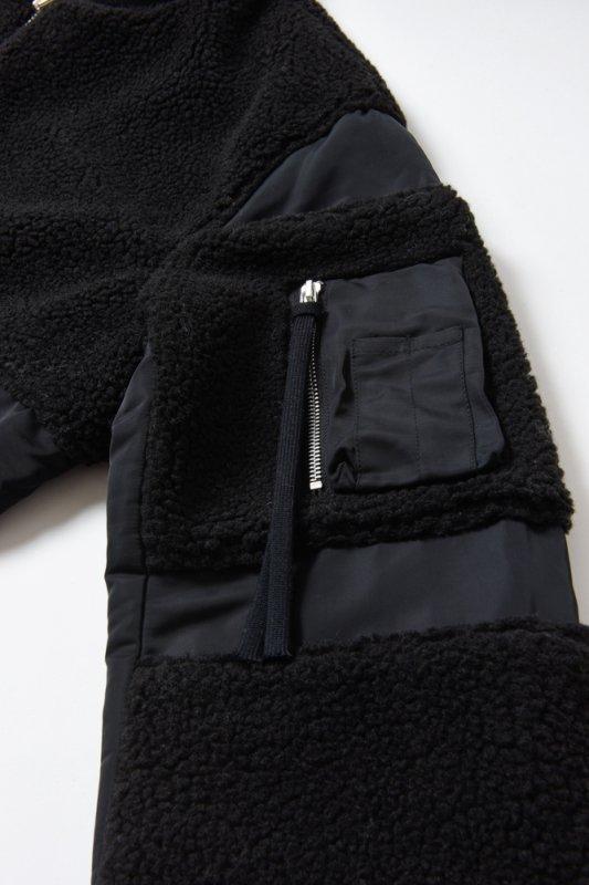 "【 50%OFF 】""THE BLACK SHEEP"" MA-1 Jacket Black x Black"
