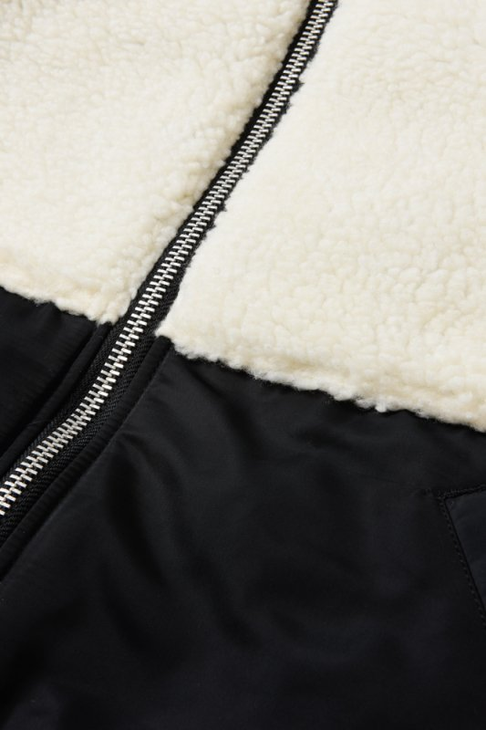 "【 50%OFF 】""THE BLACK SHEEP"" MA-1 Jacket Black x Ivory"