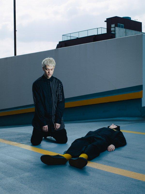 "【 50%OFF 】""PERFECT DARK II"" Long Shirt Black x Black"