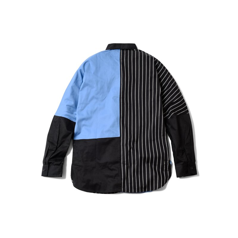 """PERFECT DARK II"" Long Shirt Black x Blue"