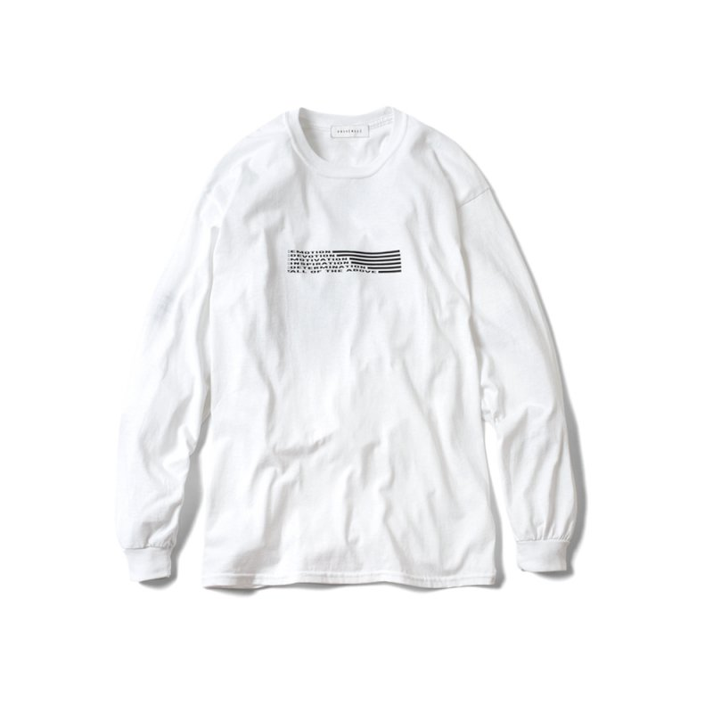 """DREAMING AWAKE"" long sleeve WHITE"