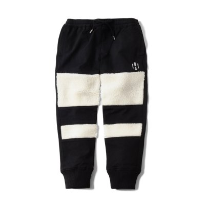 """THE BLACK SHEEP"" Track Pants Black x Ivory"