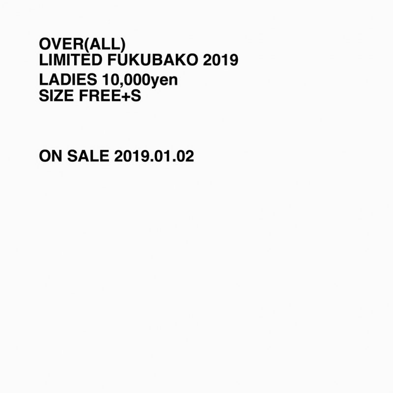 LIMITED FUKUBAKO 2019 LADIES【 発送1月中旬以降 】